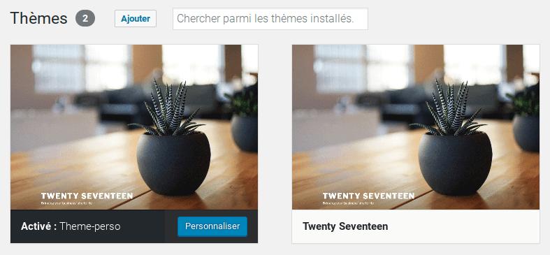 Dupliquer un thème wordpress sans plugin