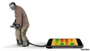 Nous sommes esclaves de nos téléphones mobiles