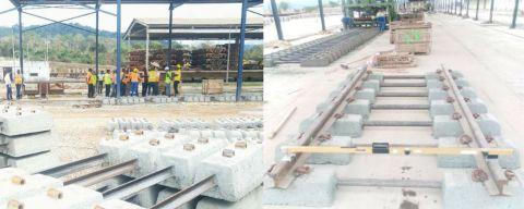 Des travaux de renouvellement de la voie ferrée à SETRAG