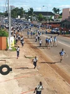 Les élèves gabonais réclament la bourse pour tous