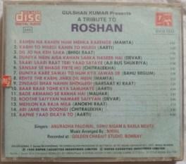 A Tribute To Roshan Hindi Audio CD
