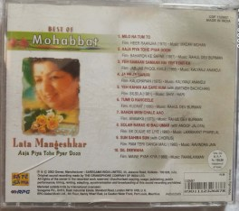 Best Of Mohabbat Lata Mangeshkar Aaja Piya Pyar Doon Hindi Audio CD