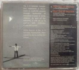 Pray For Me Brother A.R.Rahman English Audio CD
