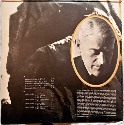 Perlemuter Plays Chopin English Vinyl Record. (1)