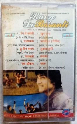 Rang De Basanti Hindi Audio Cassettes By A.R Rahman