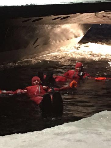 buzda yüzme