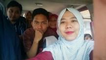 Selfie di perjalanan Bandung - Ciamis.