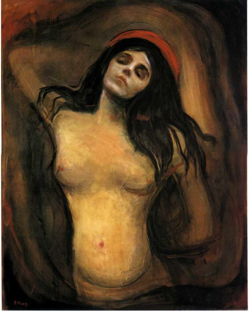 La Madonne - E. Munch, 1894.