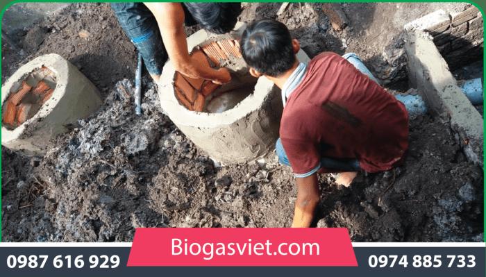 xây hầm biogas