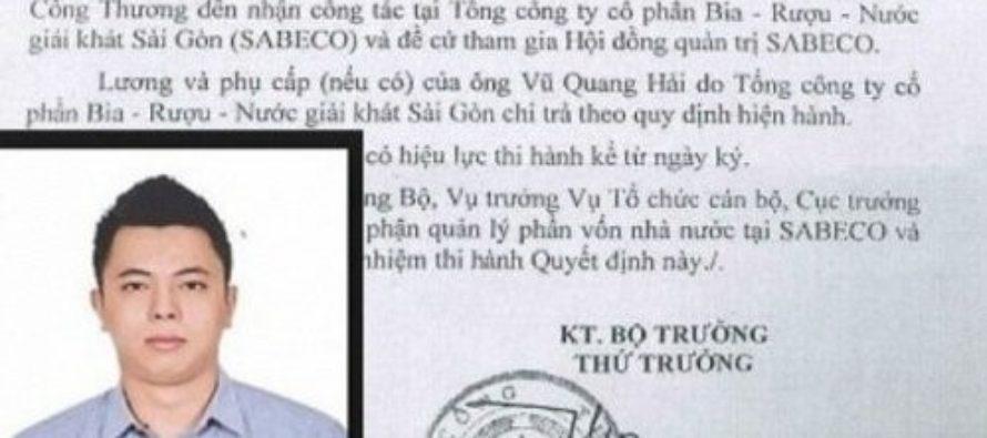 """Con cựu bộ trưởng Vũ Huy Hoàng được bổ nhiệm vào chổ """"ngon ăn"""""""