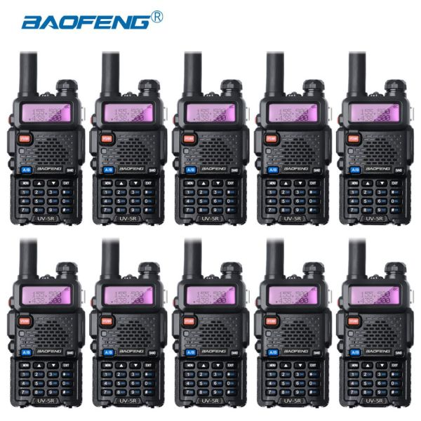 10-pcs Baofeng UV-5R VHF UHF Walkie Talkie
