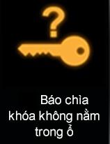 Đèn báo chìa khóa không nằm trong ổ