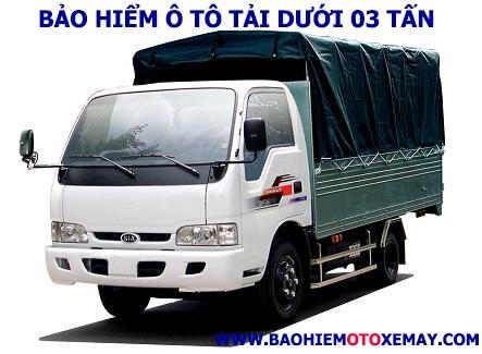 Bảo hiểm xe ô tô tải dưới 03 tấn | Chiết khấu 30