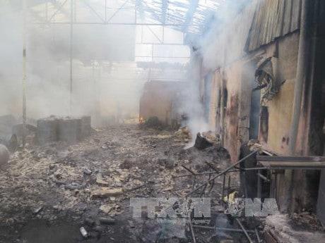 Cháy xưởng sản xuất bao bì