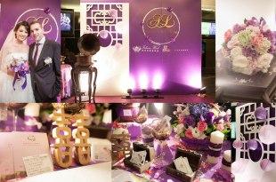 【囍】我們的復古浪漫紫色婚禮佈置♥IsleenWed愛絲琳創意婚禮
