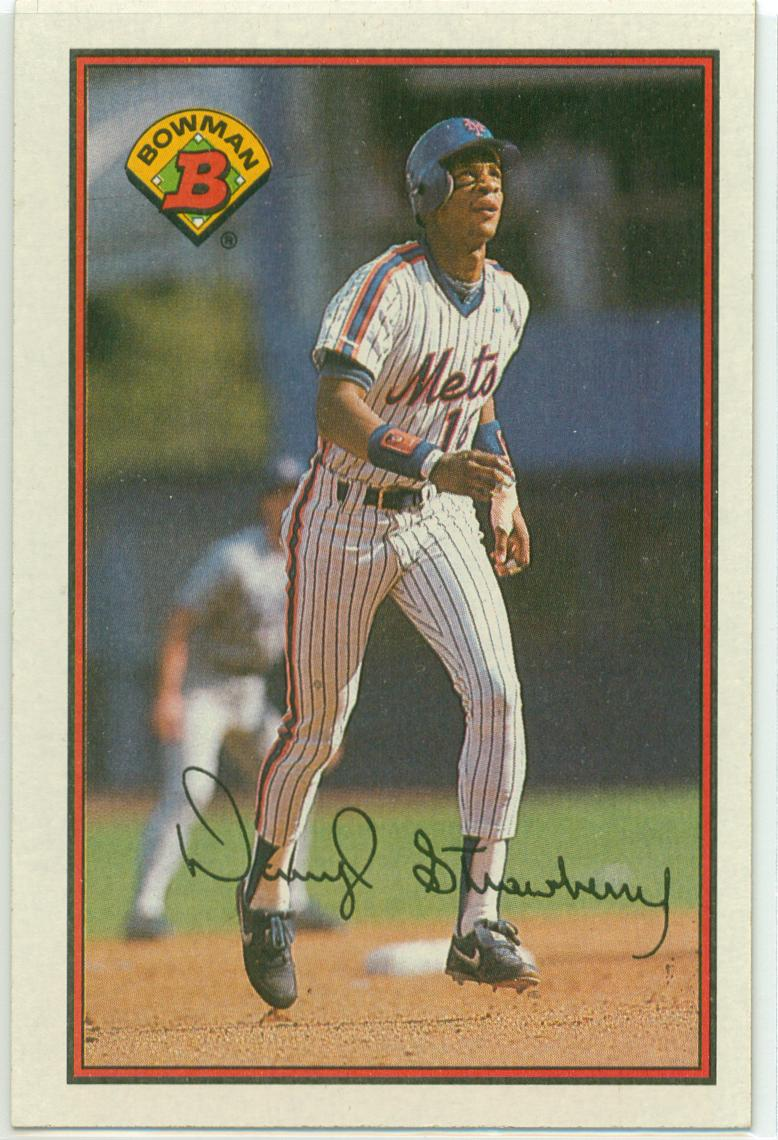 1989 Bowman Darryl Strawberry 30 Year Old Cardboard