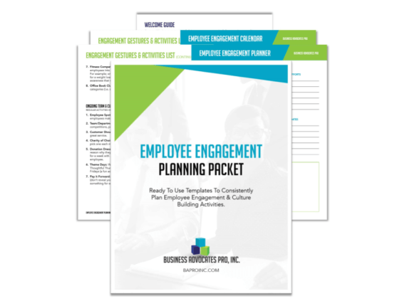 Employee Engagement Planning Packet | BA PRO, Inc.