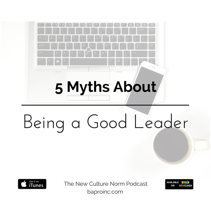 5 Myths About Being a Good Leader | BA PRO, Inc.