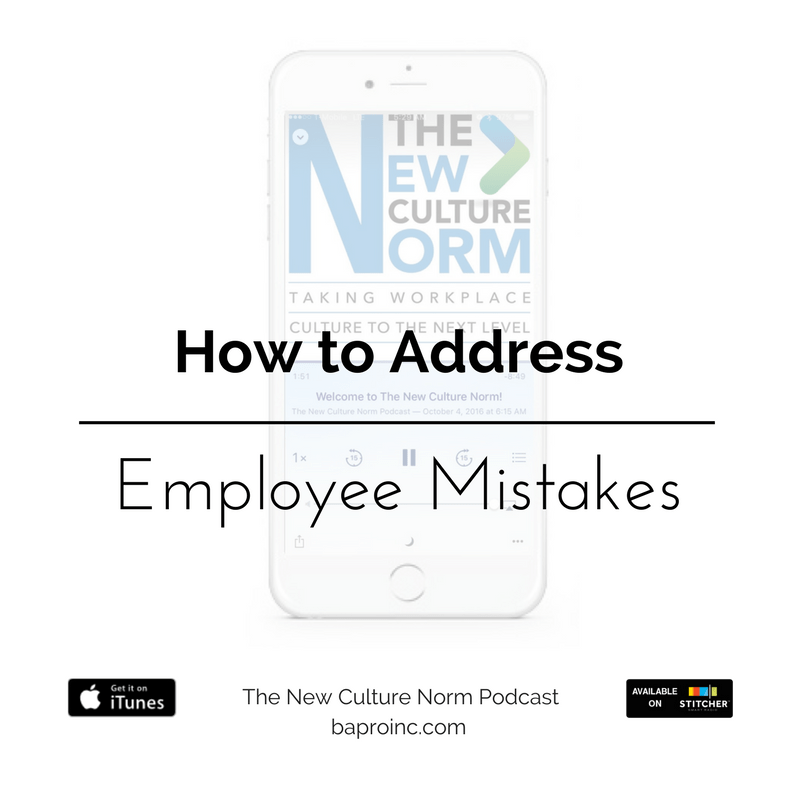 How to Address Employee Mistakes | BA PRO, Inc.