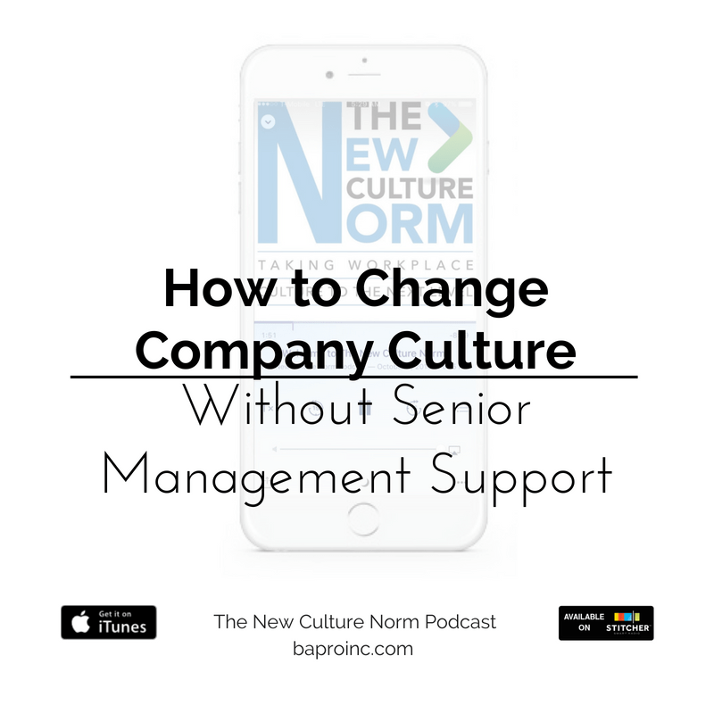 PRO Talk Tuesday: How to Change Company Culture without