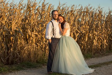 """Daniel and Kristen Lowry were married on Oct. 10, after their church, First Baptist Church of New Castle, Ky., donated a """"bride price"""" to Baptist Global Response. (Photo by Matt Jones)"""