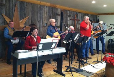 Guitars, the banjo and harmonica enrich praise and worship at Teton Valley Cowboy Church in Driggs, Idaho.