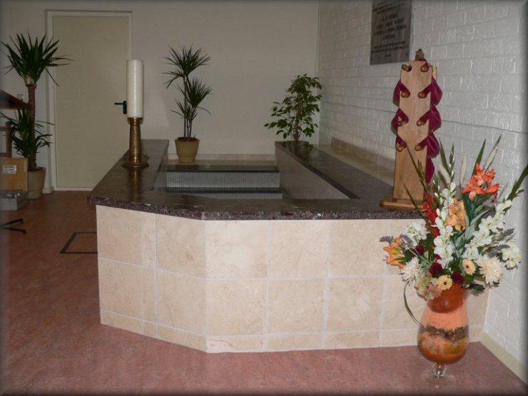 doopvont, baptist, grotemensen doop, volwassendoop, unie der gedoopten, stadskanaal, Christen, noord, joannus, johannes, babtisten, handelsstraat
