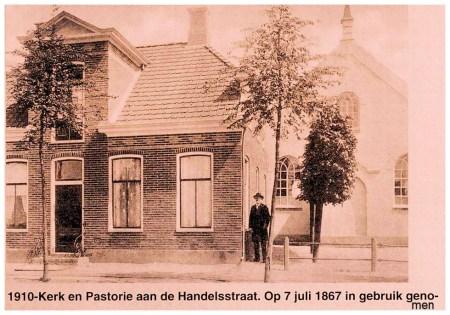 Oorspronkelijk had de eerste kerk géén toren