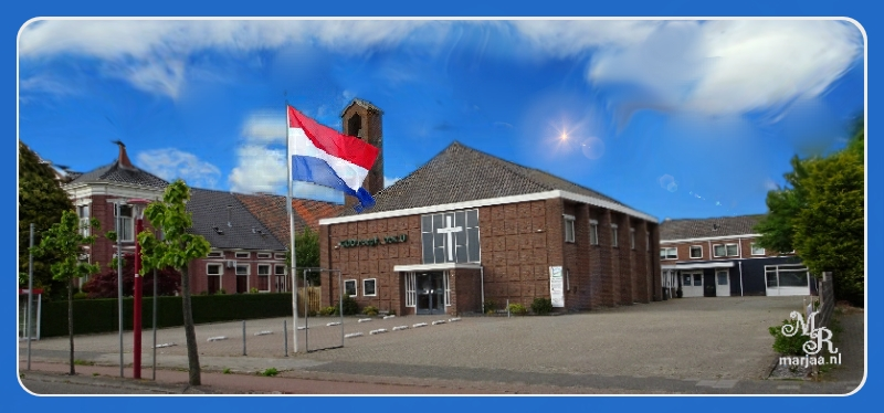 baptistenkerk met vlag