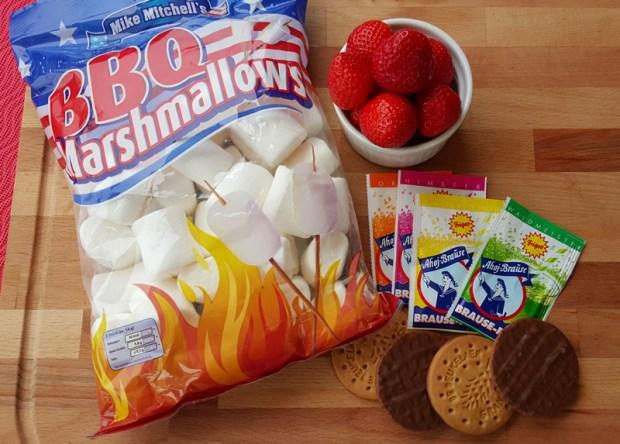 Zutaten für die Marshmallow Xplosion