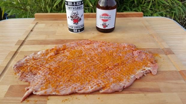 Filet mit einem Fleischklopfer plattieren