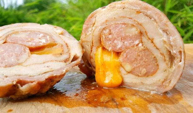 Schweinefilet Bacon Bomb - Lecker!