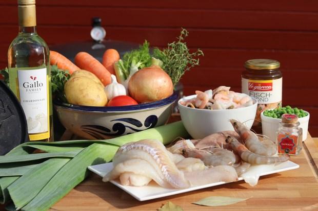 Zutaten für die Fischsuppe