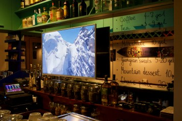The main Après-ski bar in Gudauri Resort (Georgia, Caucasus). Excellent coffee, Best local and elite Alcohol, Amazing snacks, Hight Quality sound, TV-Show, Ski movie, Travel Maps, Excursions, Transfers, Accommodations. Information about all kind activities in our mountains for FREE.