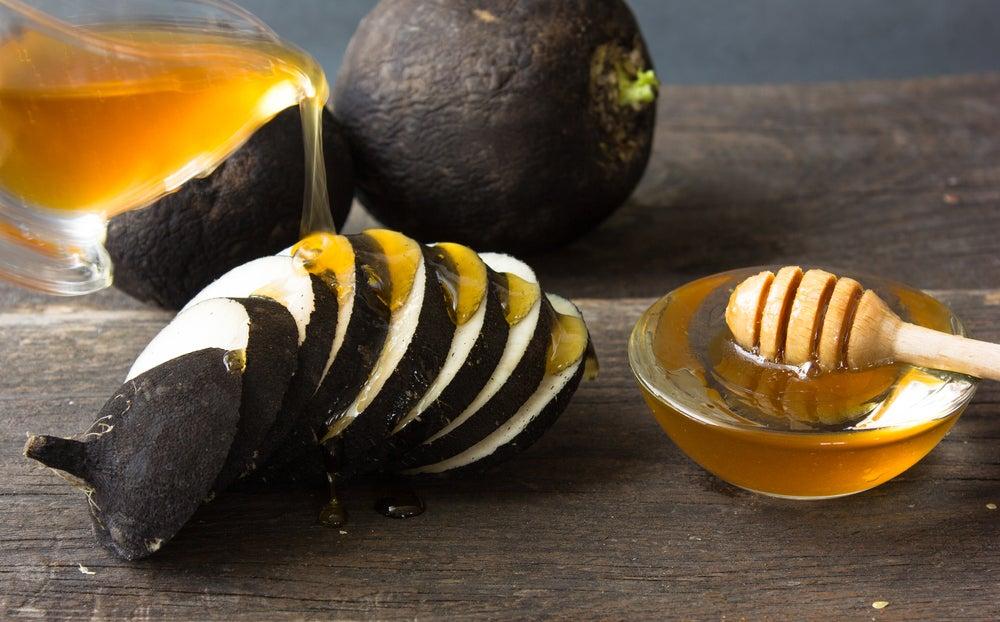 الفجل والعسل لشطف اليدين
