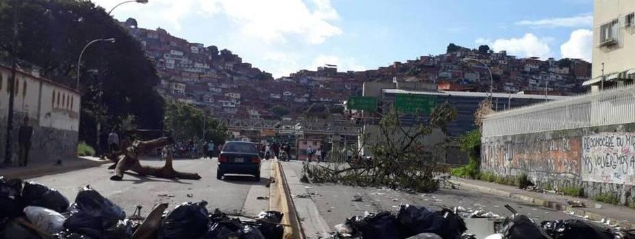 Se cumple paro cívico ciudad de Caracas