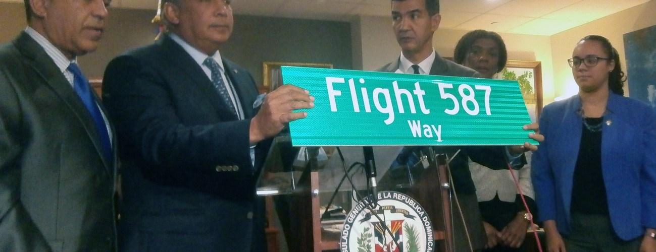 Pondrán rótulo en calle por víctimas vuelo