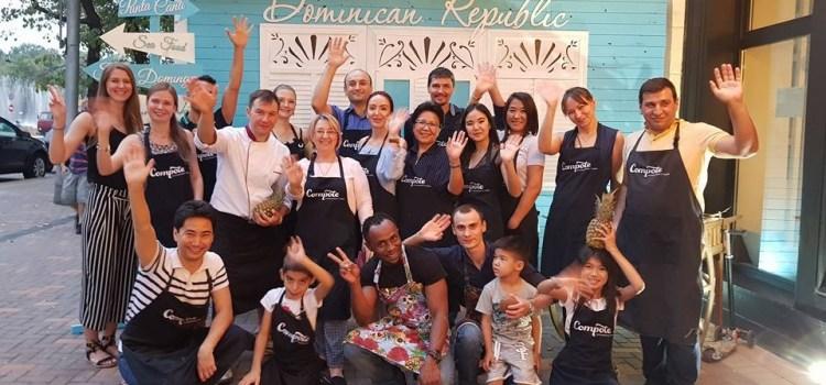 Realizan actividad gastronomía dominicana