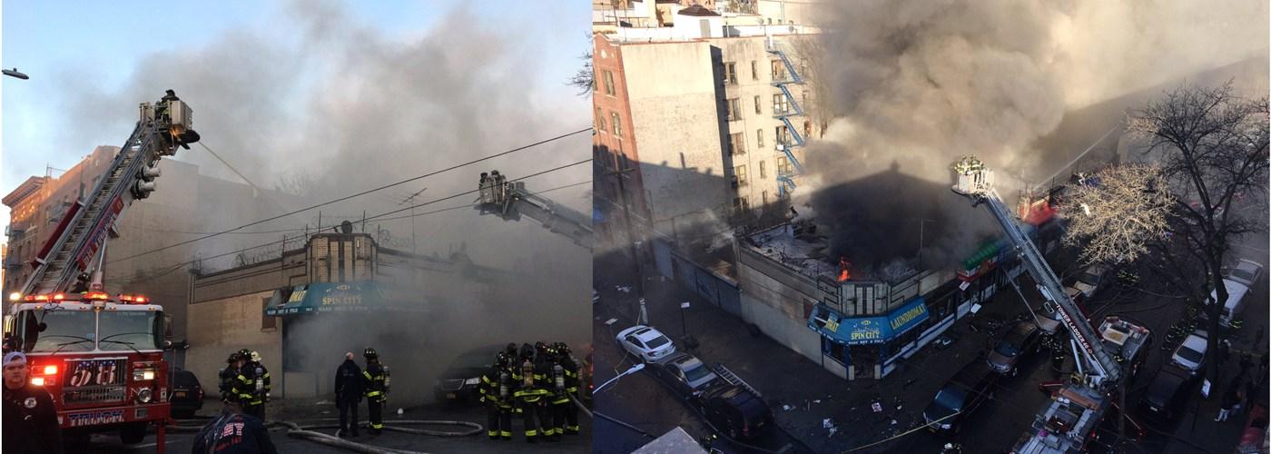 Incendio destruye negocios de dominicanos