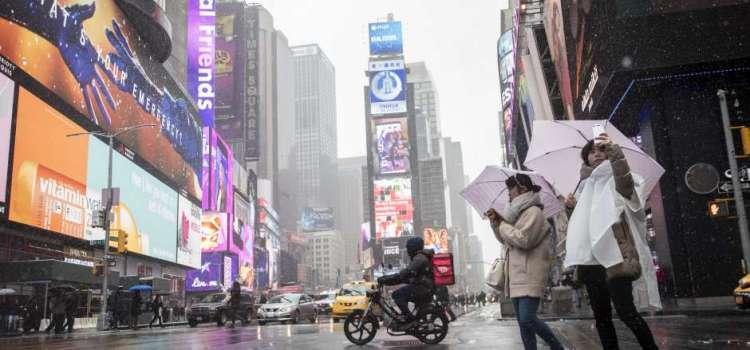 Tormenta primaveral amenaza a Nueva York