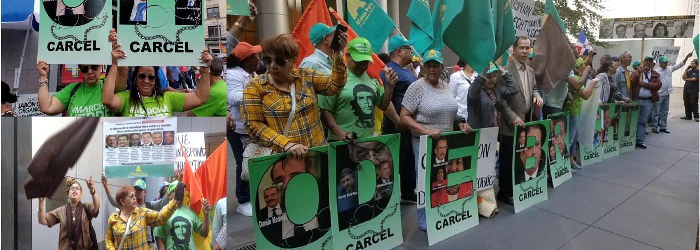 Reinician protestas por sobornos Odebrecht