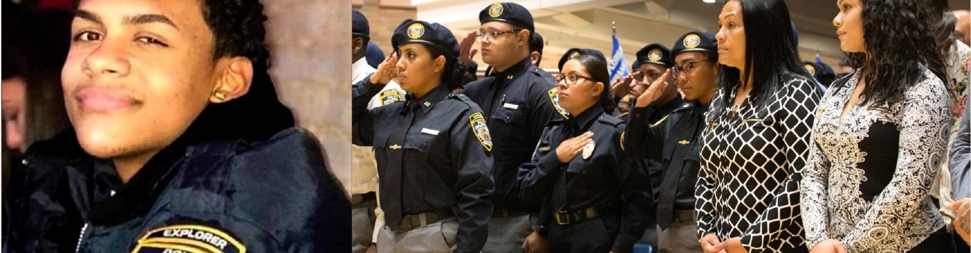 Policía NY entrega becas por Junior Feliz