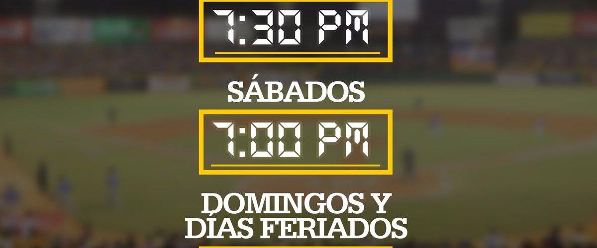 Cambio horarios en estadio Cibao