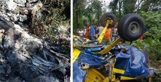 Recuperan cadáveres helicóptero accidentado