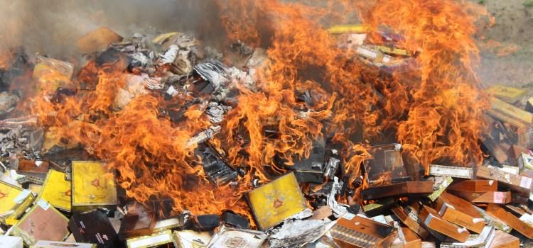 Intabaco incinera millares de cigarros falsificados