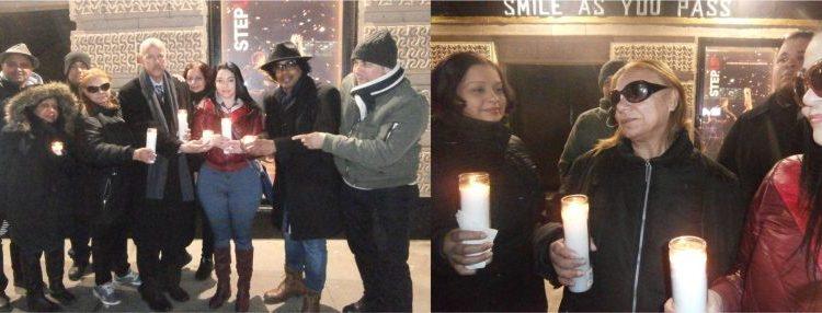 Realizan vigilia en memoria de Anthony Ríos