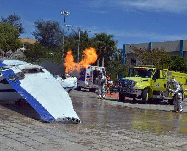 Aeropuerto Cibao realiza simulacro accidente aviación