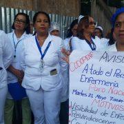 Enfermeras paran labores por reivindicaciones