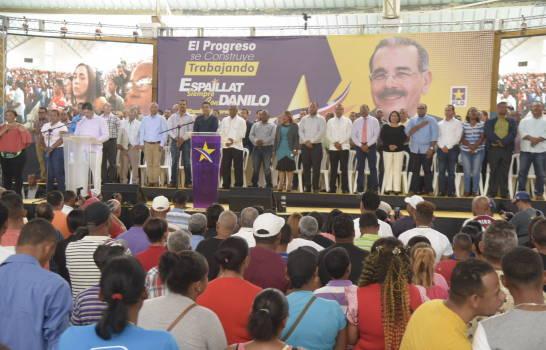 Celebran actos apoyo gestión gobierno Danilo