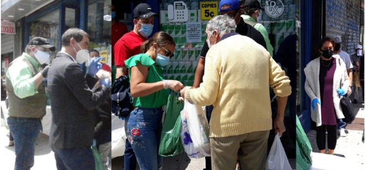 Dominicanos donan alimentos en zonas NY